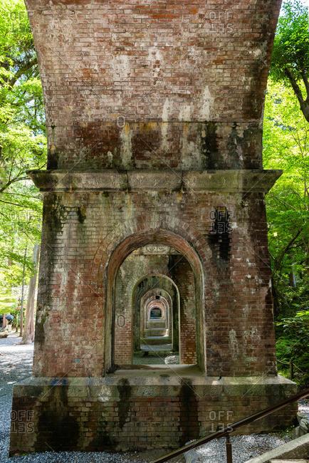 Arched windows below the aqueduct at Nanzen-ji Temple
