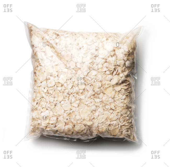 Package of dried instant oatmeal