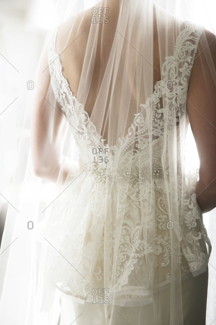 The back of a bride