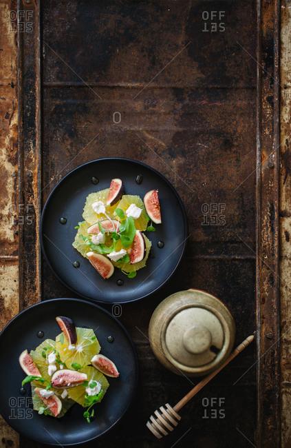Fig and citrus salad