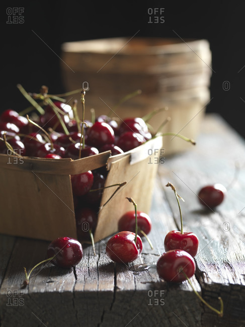 Fresh cherries from the farmers market