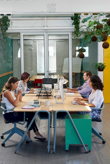 Advertising firm with open-plan style office