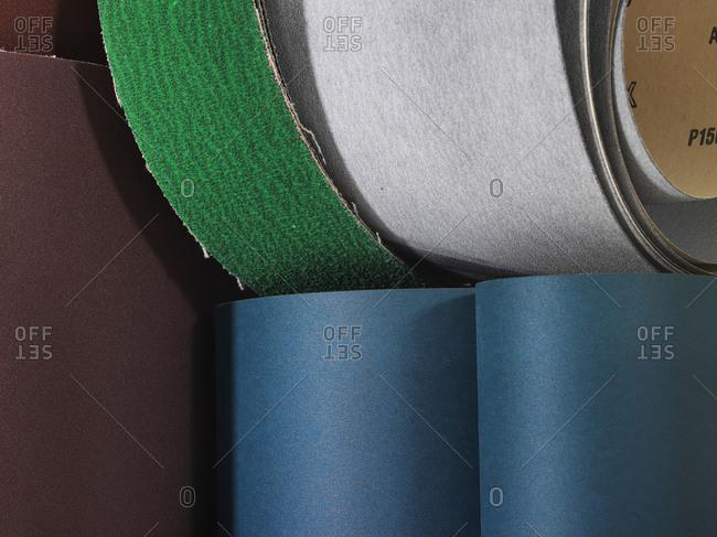 Rolls of sandpaper