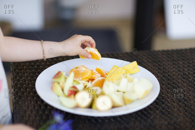 Fresh fruit salad for kid
