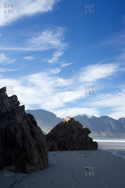 Mountain and beach in South Africa