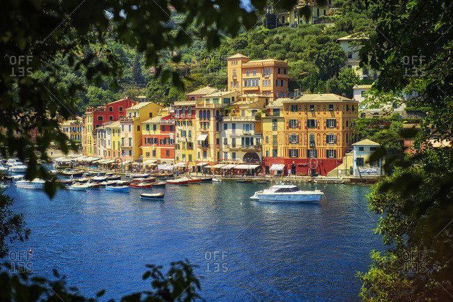 Boats and row of houses, Liguria