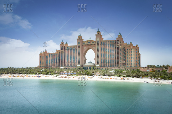 Dubai, UAE - June 3, 2015: View of the Atlantis the Palm Hotel, Dubai