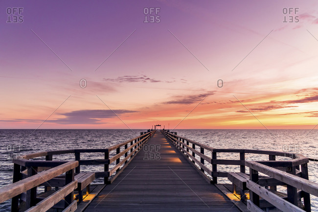 Sunrise at pier, Heiligendamm