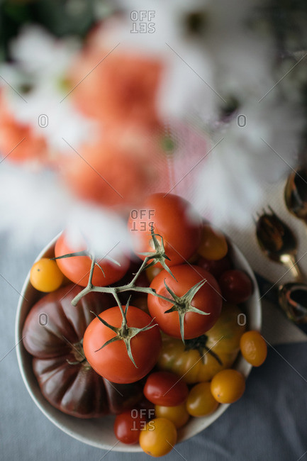 Various tomato varieties in a bowl