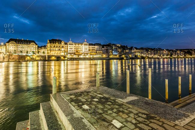 Rhine waterfront in Basel, Switzerland