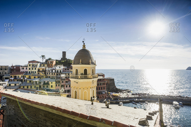 Town of Vernazza on the Italian Riviera