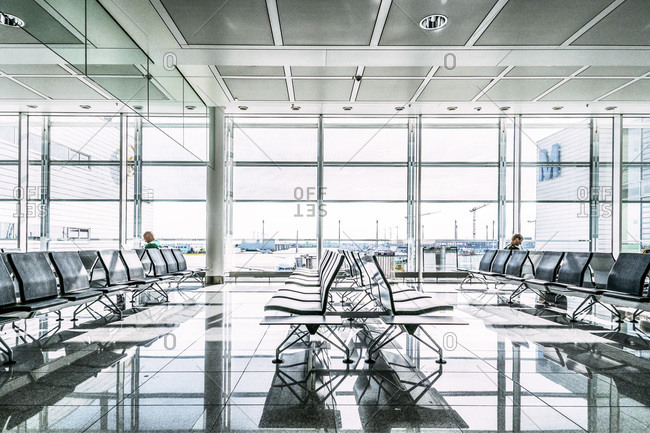 Munich, Bavaria, Germany - May 19, 2013: Seating in an airport terminal
