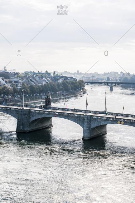 Middle Bridge over the Rhine in Basel, Switzerland