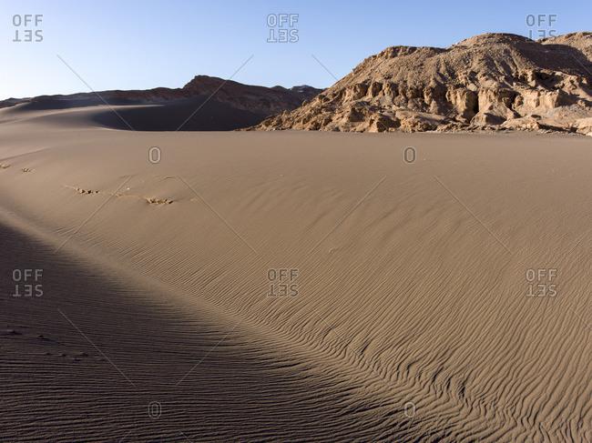 Valle de la Luna, Salar de Atacama in San Pedro de Atacama, Antofagasta Region, Chile