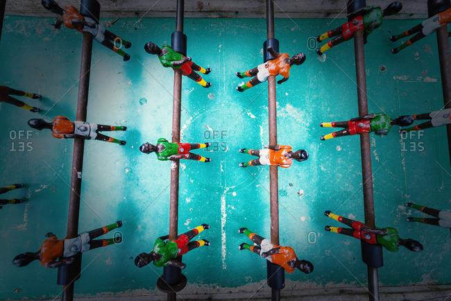 Table football game in Tarifa, Cadiz, Andalusia, Spain