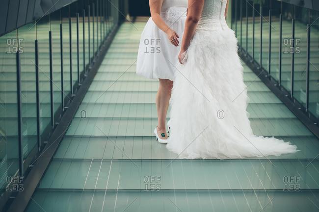 Two women celebrate their wedding day