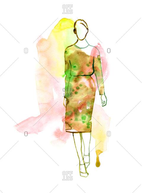 A woman in a pencil dress