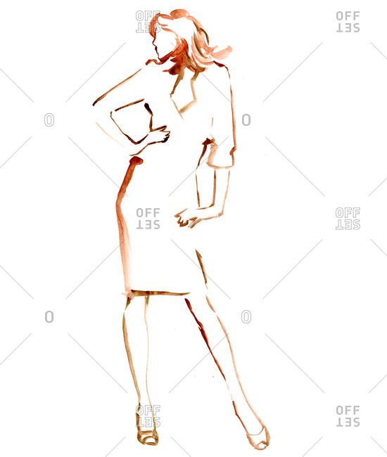 A woman striking a fashionable pose