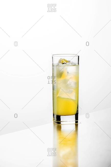 A Long Island Iced Tea in a glass