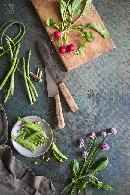 Summer vegetables from a farmer's market