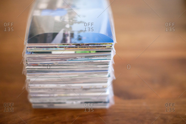 Stack of printed photographs
