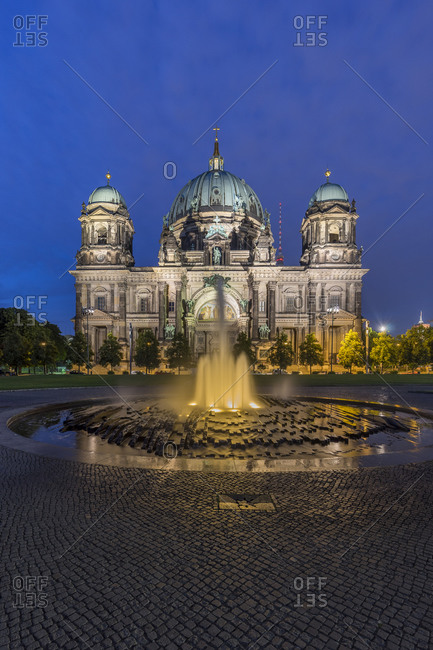 Berlin Cathedral in the evening, Berlin