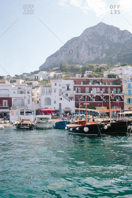 Boats in Marina Grande on the island of Capri