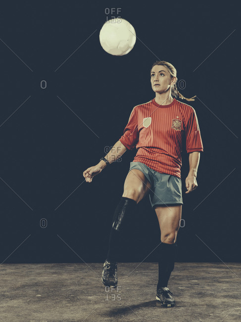 Female soccer player in uniform