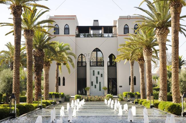 Marrakech, Morocco - June 27, 2013: Four Seasons Resort Marrakech