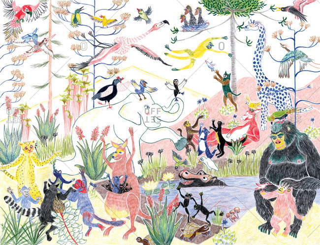 A cacophony of animals in the wild
