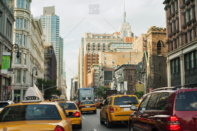 New York City midtown traffic