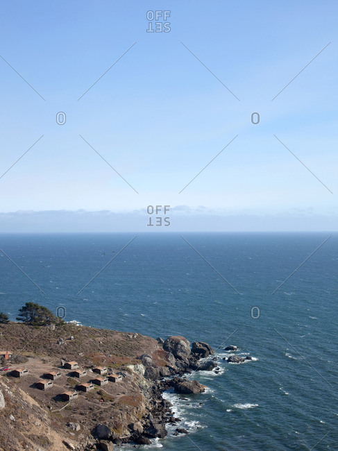 Campground on the Pacific Ocean in Marin County, California