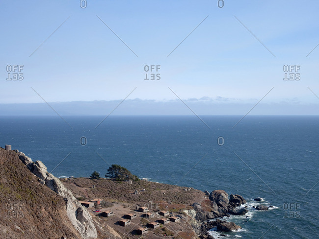 Campground and cabins on the Pacific Ocean in Marin County, California