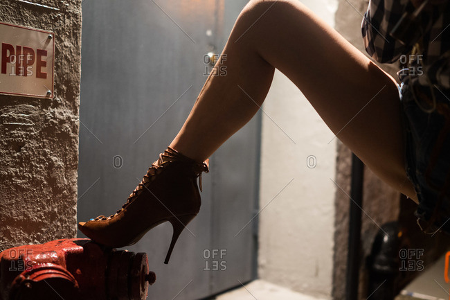 Sexy woman wearing high heels