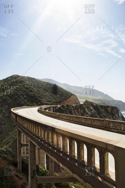 Road over Rocky Creek Bridge, California