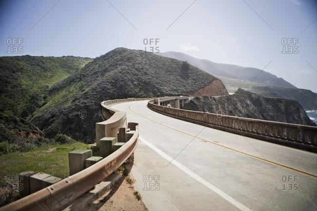 Road on Rocky Creek Bridge, California