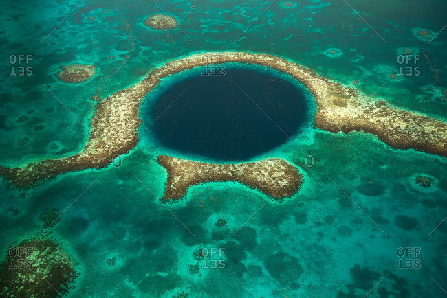 Great Blue Hole off the coast of Belize