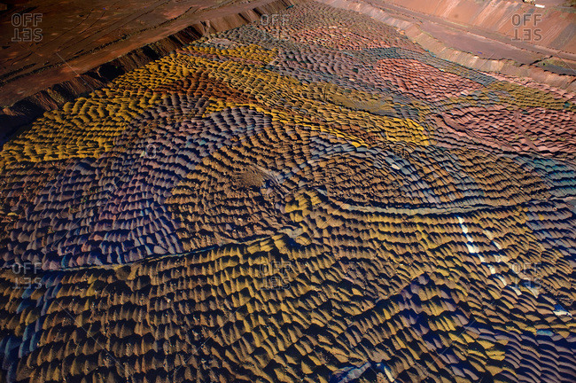 Aerial view of Outback mines in Australia
