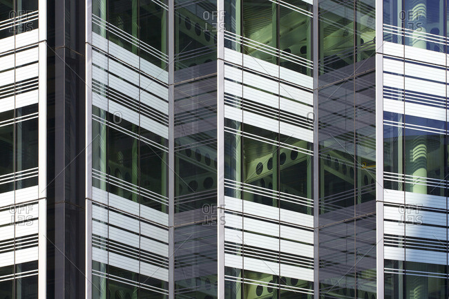 London, England, UK - August 12, 2015: Exterior detail of 10 Hammersmith Grove office building in London