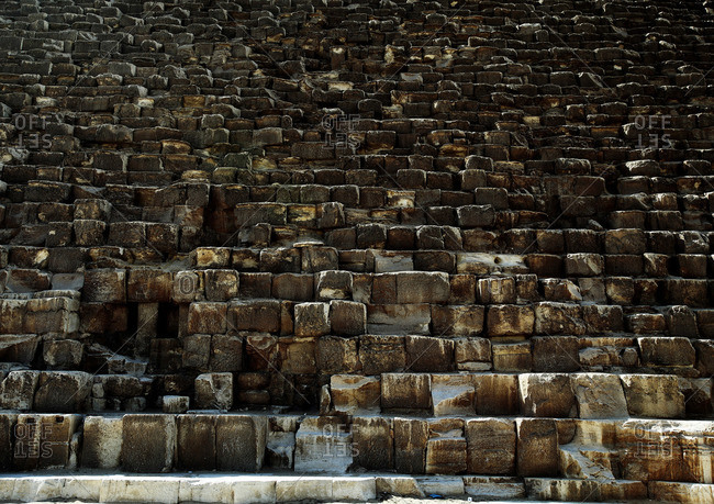 Detail view of stones, Great Pyramid of Giza, Egypt