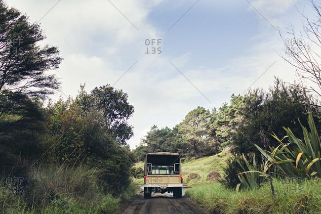 Truck on a dirt path