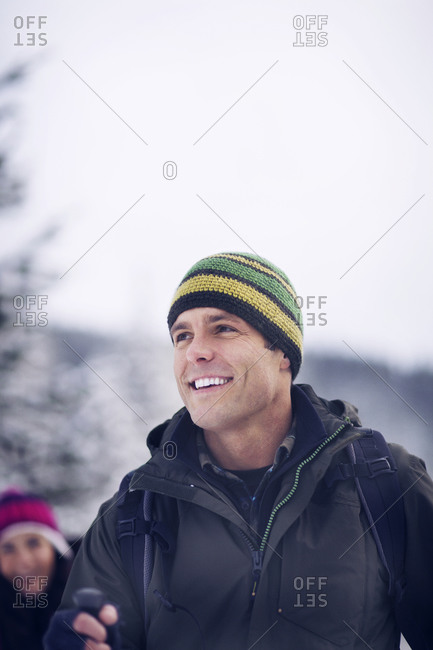 Portrait of a man in winter clothing