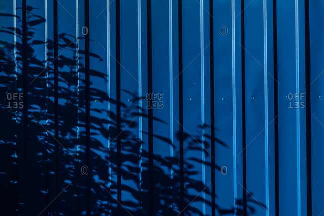 Shadows on corrugated metal
