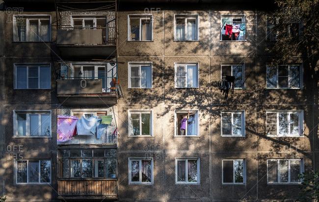 An apartment building in Kazakhstan