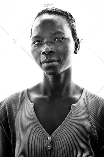 Paicho, Uganda - March 5, 2015: Portrait of a young Ugandan woman