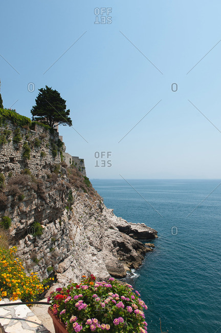The cliffs of Gaeta, Italy