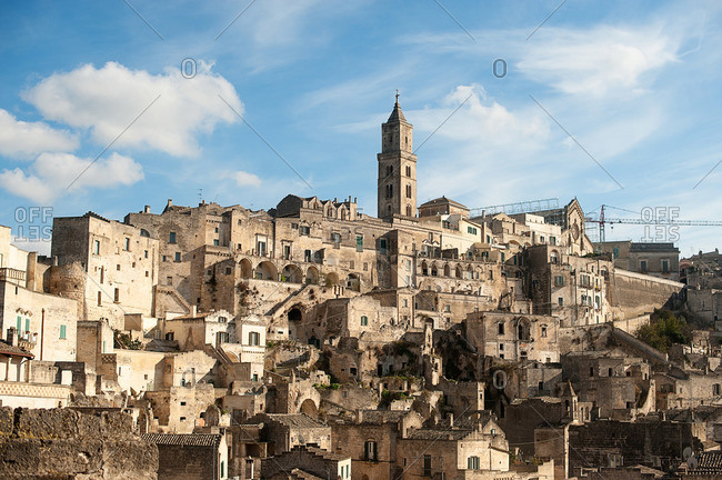 The town of Matera in Southern Italy