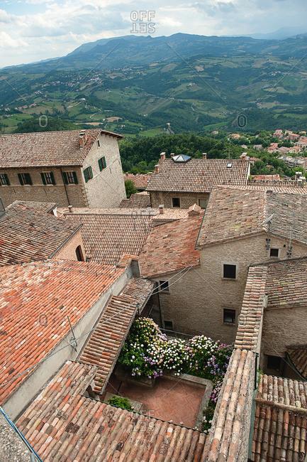 A courtyard in a San Marino town