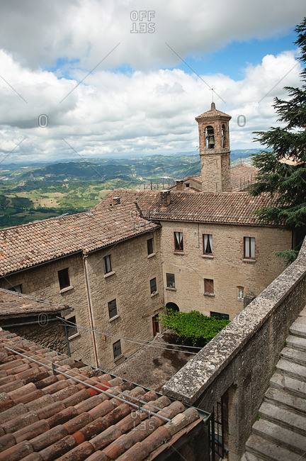 A courtyard in San Marino