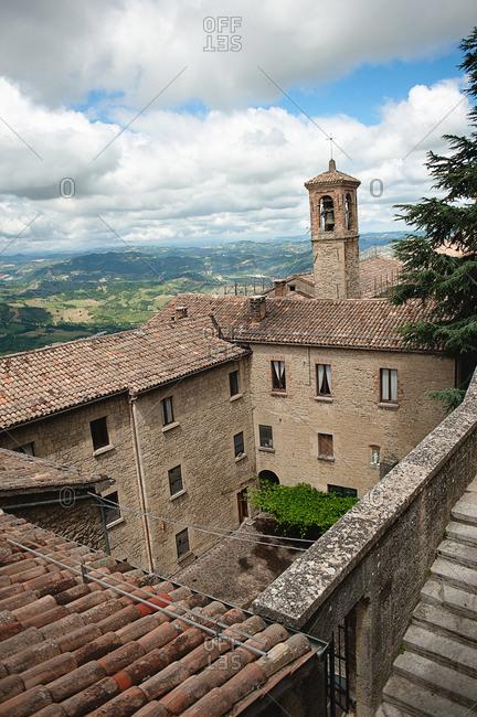 A courtyard in San Marino